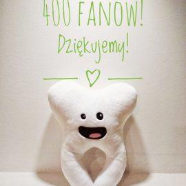 Ponad 400 fanów na Facebooku – Dziękujeeemy!